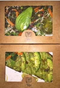 Lentil Salad and Avocado Toast