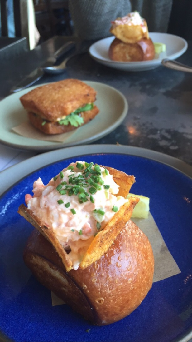 Shrimp Toast and Lobster Roll