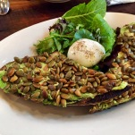 Bob's Well Bread: Avocado Toast with an Egg, topped with pepita seeds