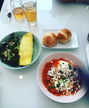 Baked Eggs and Omelet