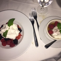 Organic Berries and Whipped Cream and Sticky Toffee Pudding