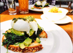Cecconi's: Green eggs and Toast, spinach and avo topped with two poached eggs