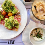 Zinc: Crunchy artisan toast topped high with creamy mashed avocado